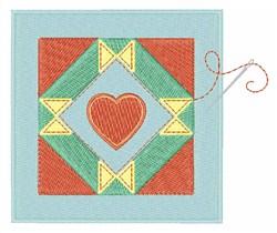 Heart & Spools Block embroidery design