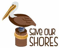 Save Our Shores embroidery design