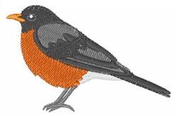 American Robin embroidery design