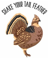 Shake Tail Feather embroidery design