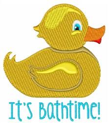 Its Bathtime embroidery design