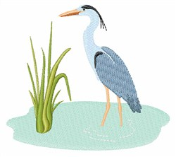 Blue Heron embroidery design