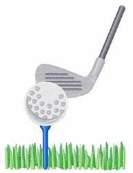 Golf Ball embroidery design