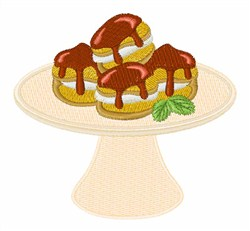 Profiterole Dessert embroidery design