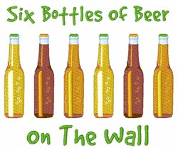 Six Bottles embroidery design