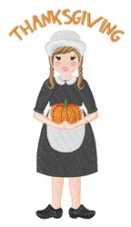 Thanksgiving Girl embroidery design