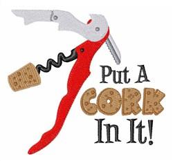 Put Cork In It embroidery design