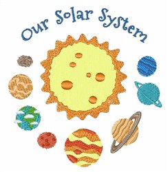 Our Solar System embroidery design