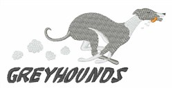 Greyhounds embroidery design