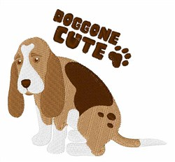 Doggone Cute embroidery design