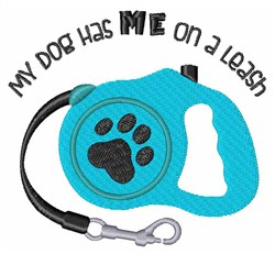 My Dog Leash embroidery design