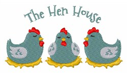 The Hen House embroidery design
