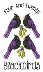 Four and Twenty embroidery design