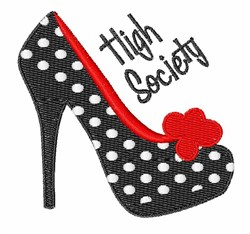 High Society embroidery design