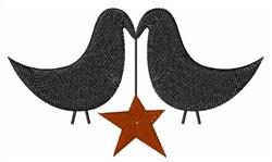 Blackbird Star embroidery design