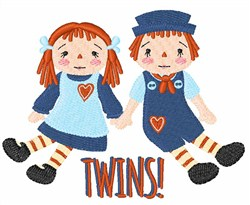 Twins embroidery design