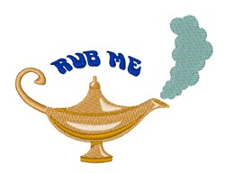 Rub The Lamp embroidery design