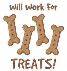 Work For Treats embroidery design