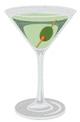 Straight Up Martini embroidery design