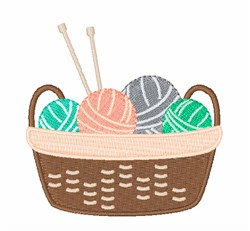Knitting Basket embroidery design