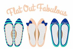 Flat Out Fabulous embroidery design