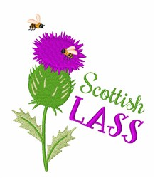 Scottish Lass embroidery design