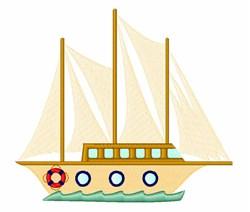Regatta Sailboat embroidery design
