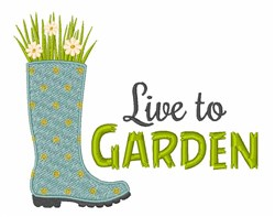 Live To Garden embroidery design
