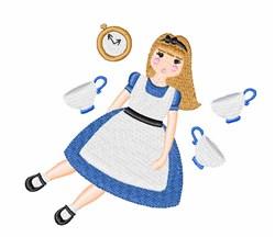 Wonderland Alice embroidery design