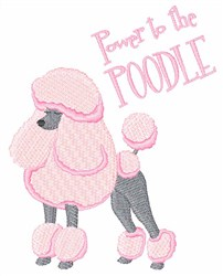 Power To Poodle embroidery design
