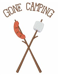 Gone Camping embroidery design