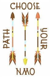 Choose Your Path embroidery design