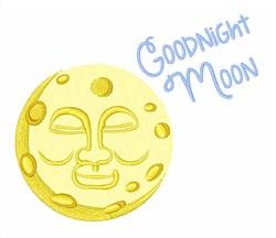 Good Night Moon embroidery design