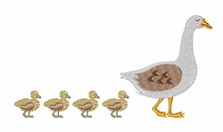 Goose & Ducklings embroidery design