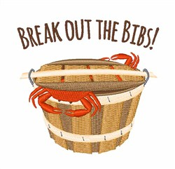 Break Out Bibs embroidery design