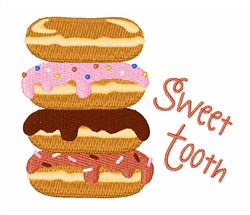 Sweet Tooth Donuts embroidery design