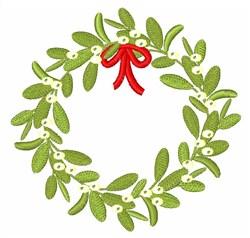 Mistletoe Wreath embroidery design