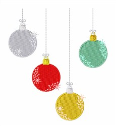 Holiday Ornaments embroidery design