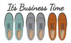 Its Business Time embroidery design