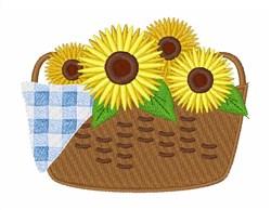 Sunflower Basket embroidery design