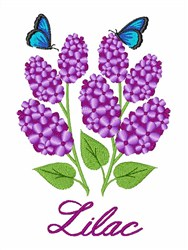 Lilac Flowers embroidery design