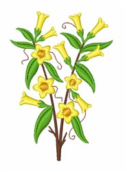 Yellow Jasmine embroidery design