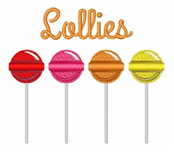 Lollies embroidery design