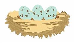 Bird Egg Nest embroidery design