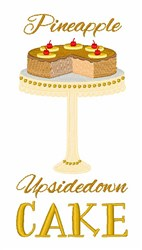 Pineapple Upside Down Cake embroidery design