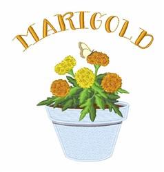 Marigold embroidery design