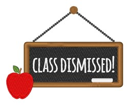 Class Dismissed embroidery design