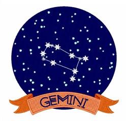 Gemini embroidery design