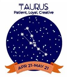 Taurus Traits embroidery design