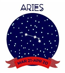 Aries Dates embroidery design